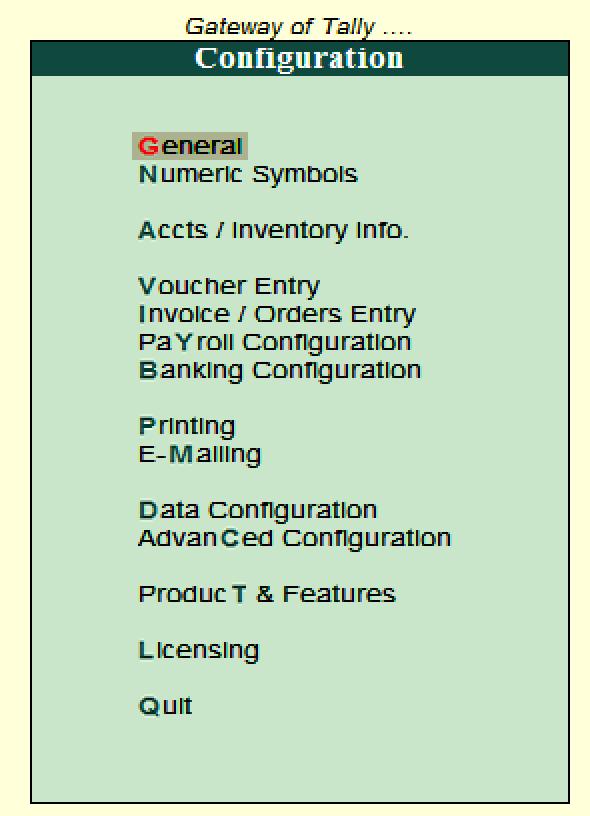 F12 Configurations