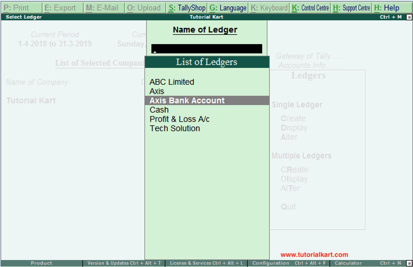 List of Ledgers