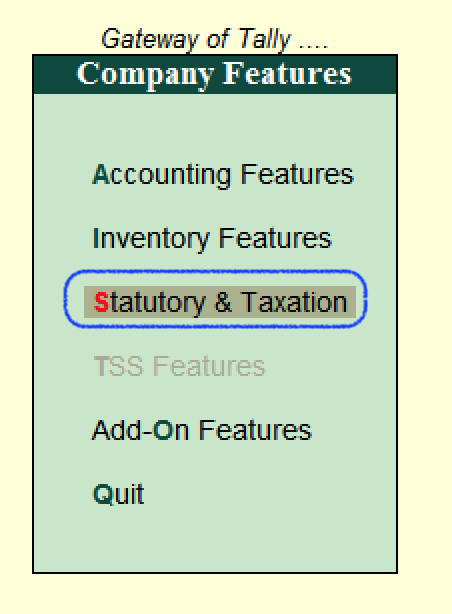 Statutory and Taxation in Tally