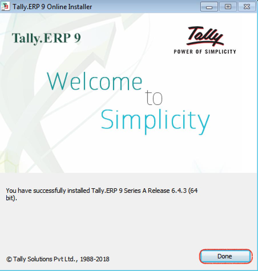 Tally ERP 9 Installation