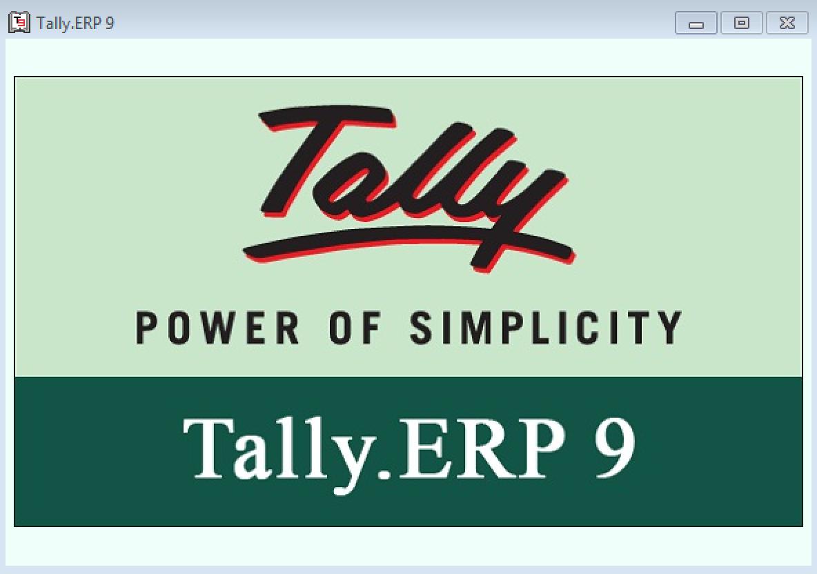 Tally Erp 9 welcome screen
