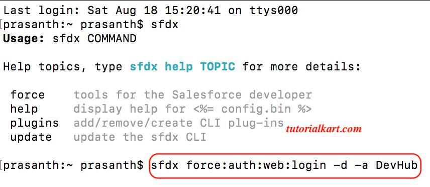 Dev Hub login