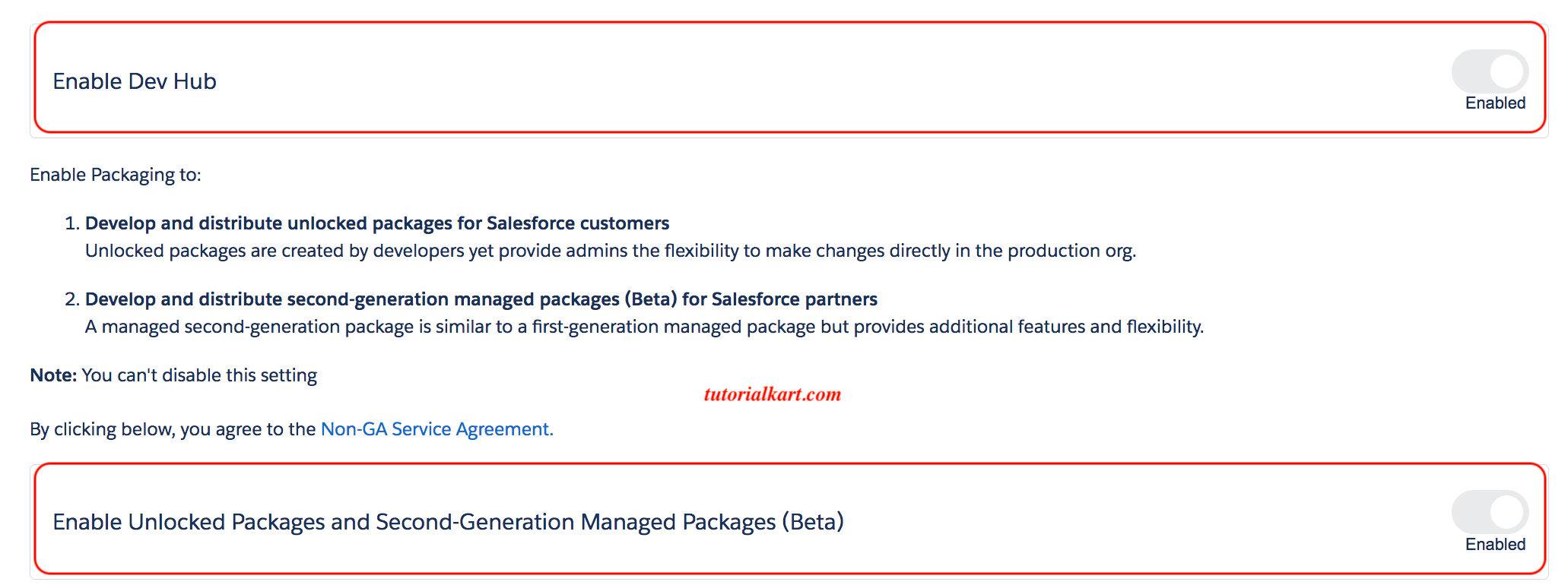 Enable Dev Hub in Salesforce Org