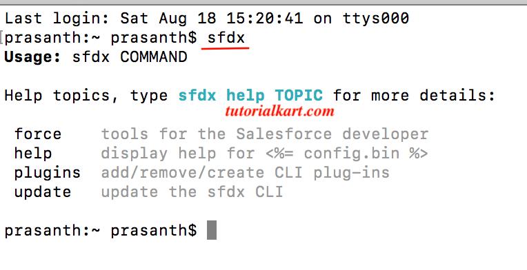 Salesforce CLI installation
