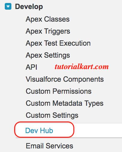 Salesforce Dev Hub Setup