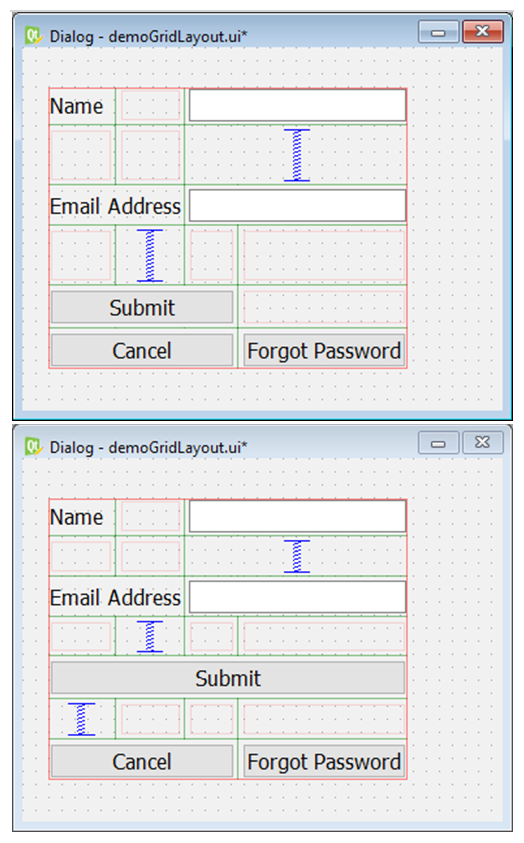 Grid and Form Layouts in Qt5 Python