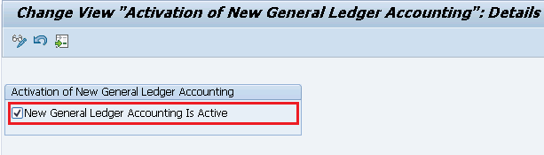 Activate new general ledger accounting in sap