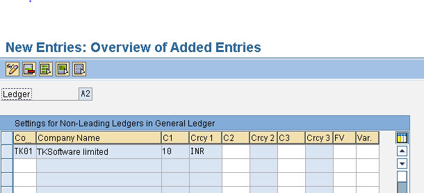 Define and Activate Non Leading Ledgers A2