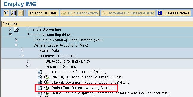 define zero-balance clearing account SAP path