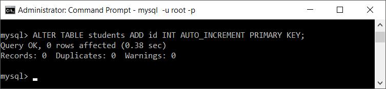 MySQL add column to table