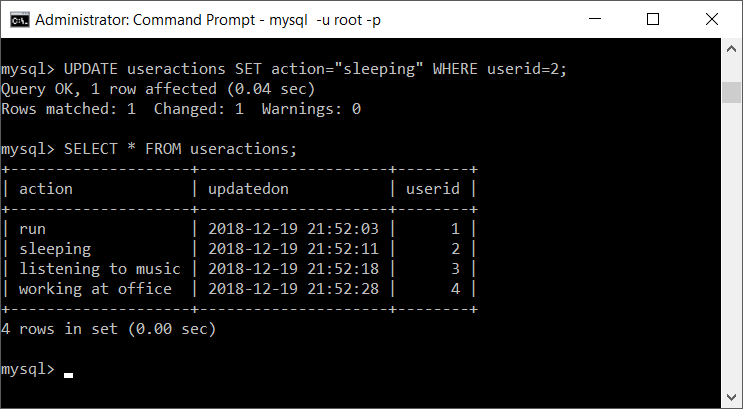 How To Update Timestamp Whenever Row Is Updated In Mysql