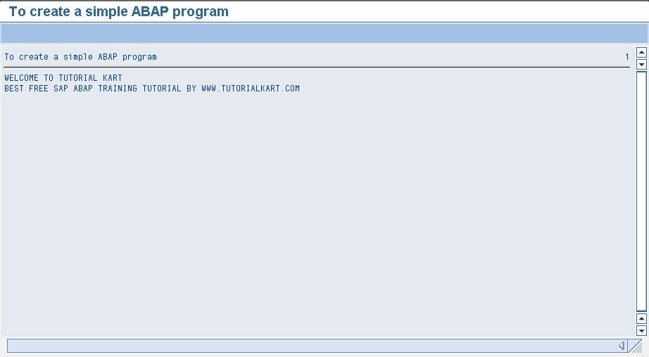 Run ABAP Program in SAP