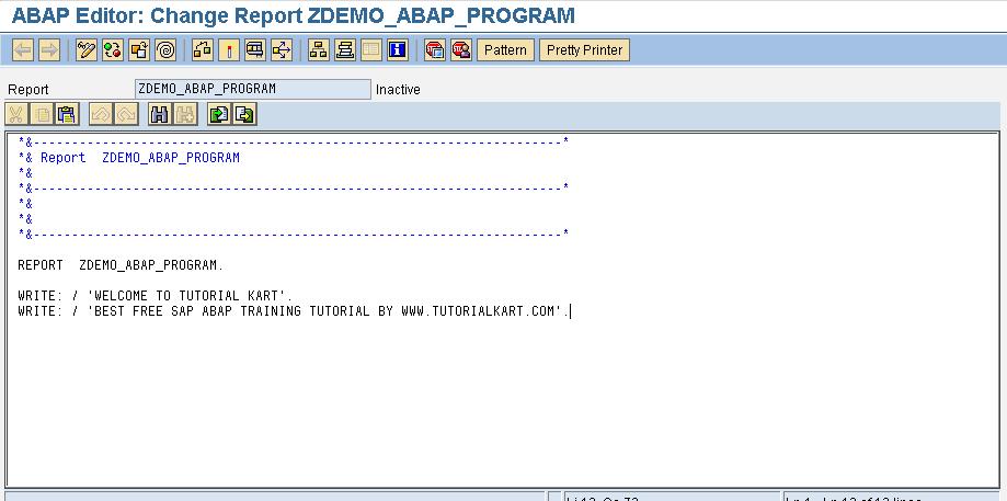 SAP ABAP Demo Program