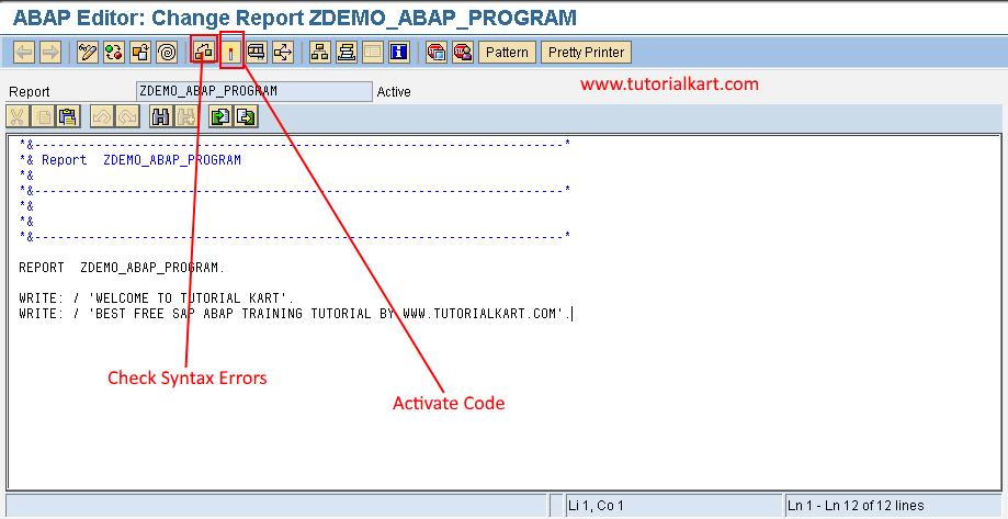 check ABAP program errors