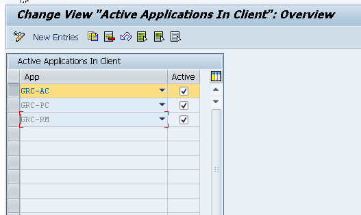 Activate applications in SAP GRC