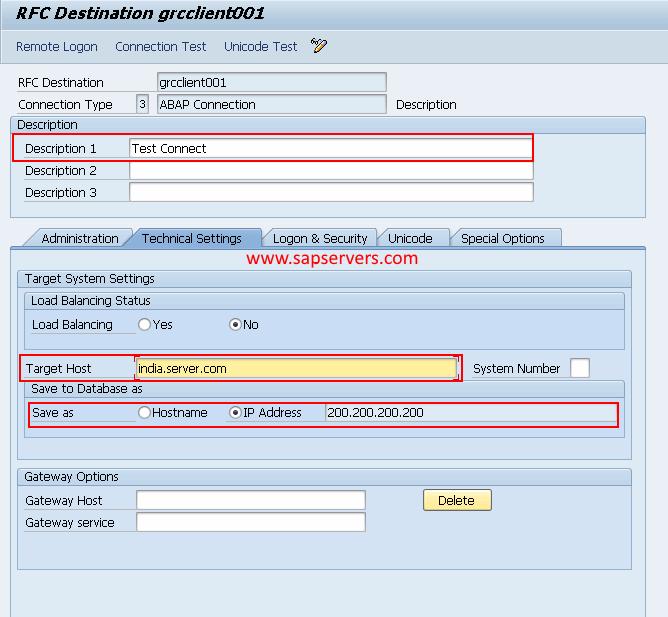 How to Configure RFC Destination in SAP GRC