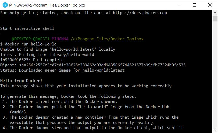 Docker Terminal - Run Command