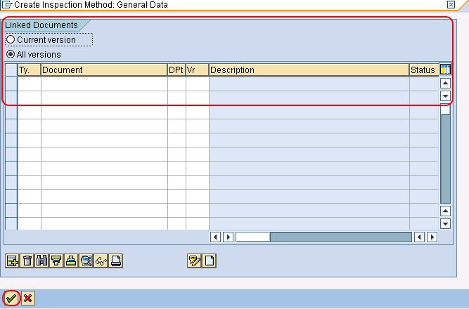 Create inspection method link document