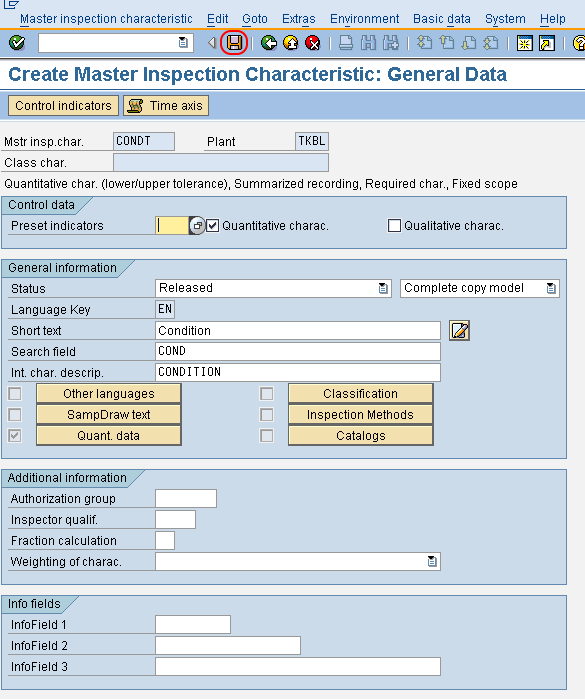 How to Create Master Inspection Characteristic in SAP QM