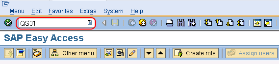 SAP QM create inspection method in SAP tcode