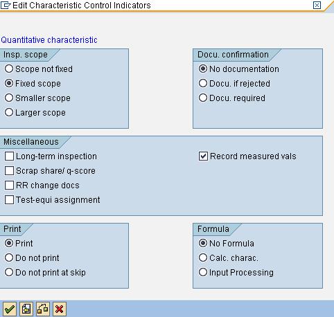 control indicators next screen SAP