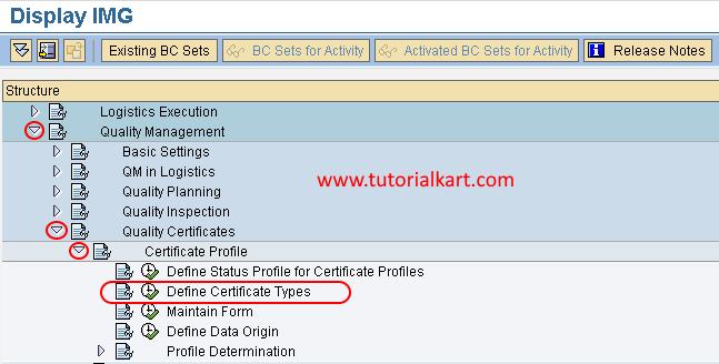 define certificate types navigation path
