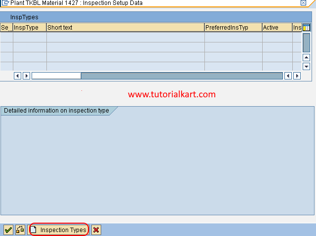 inspection types in SAP
