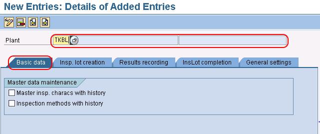plant level settings basic data in SAP QM