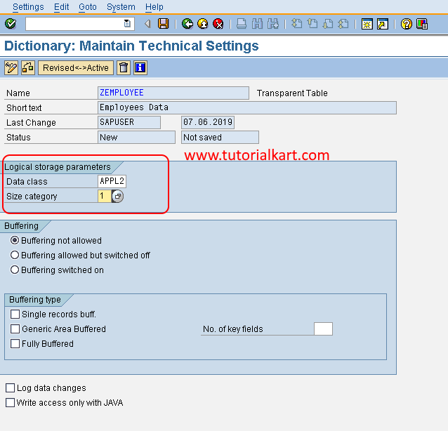 How to Create Database Table in SAP ABAP