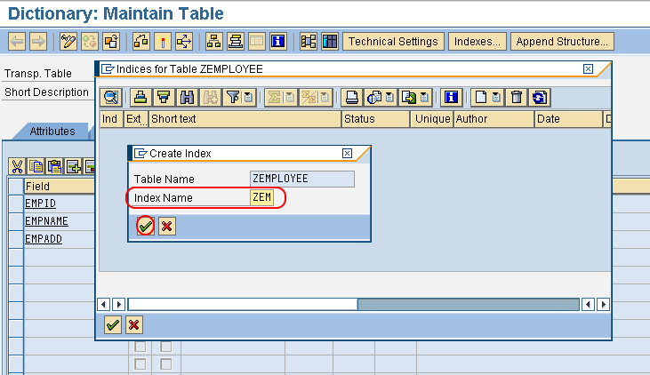 SAP ABAP Indexes | How to Create Indexes in SAP