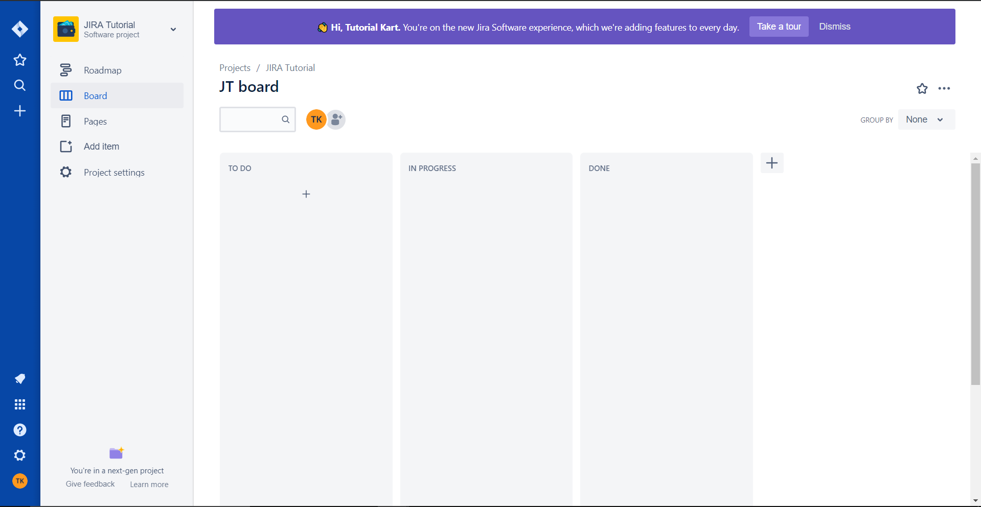 JIRA Tutorial - Project Dashboard