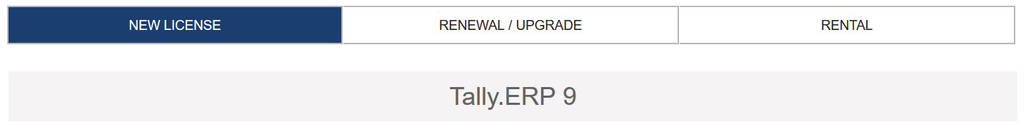 How to buy Tally ERP 9
