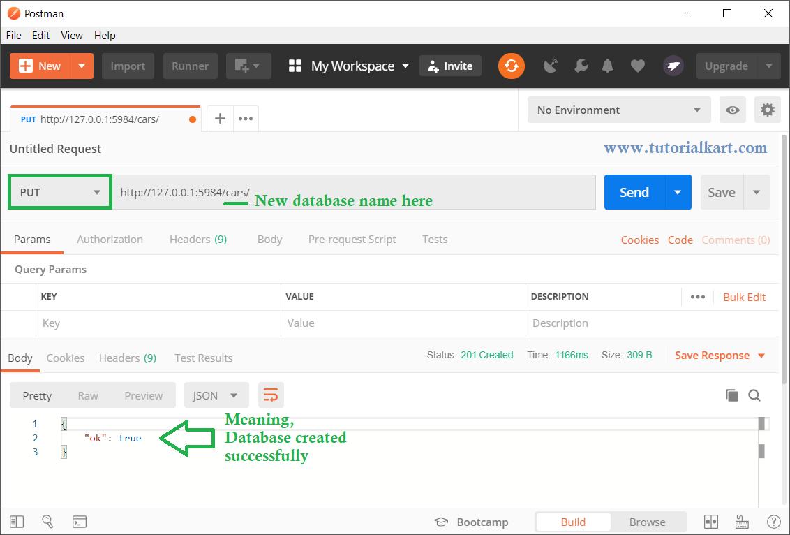 CouchDB - REST API - Create Database