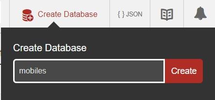 CoucuDB - Create Database - Enter database name