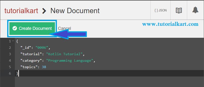 CouchDB - Create Document - JSON