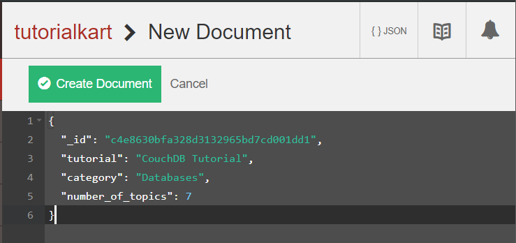 CouchDB Tutorial - Create New Document
