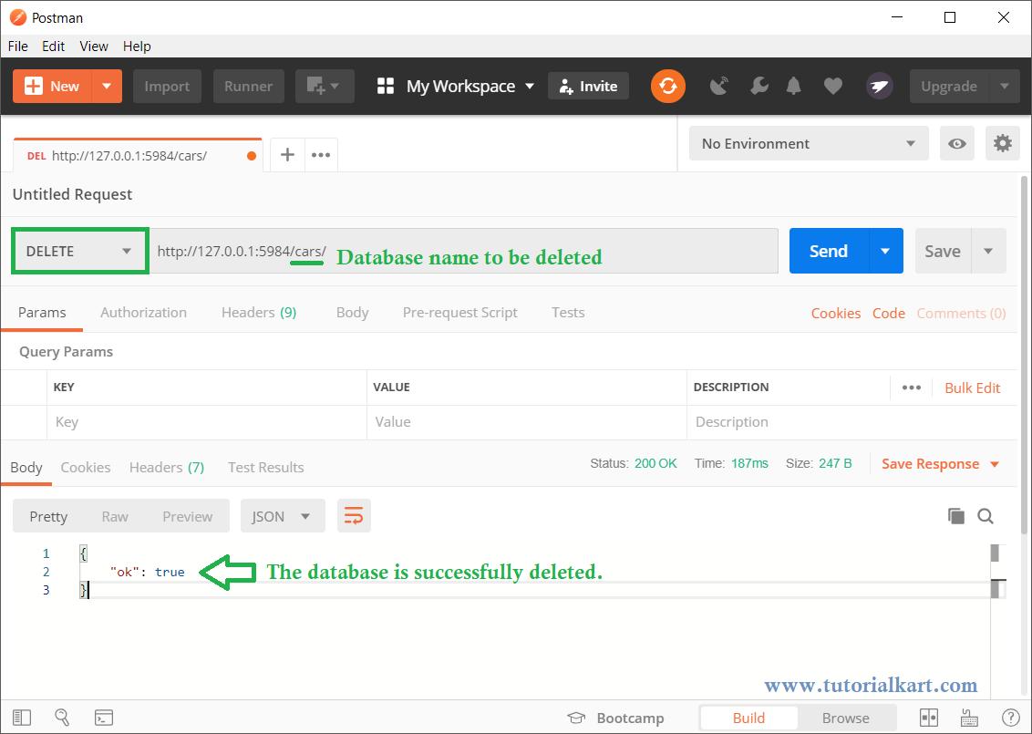 CouchDB - Delete Database - REST API, Web Interface
