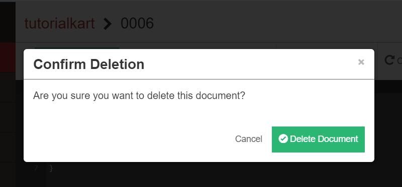 CouchDB - Delete Document - Confirm Deletion