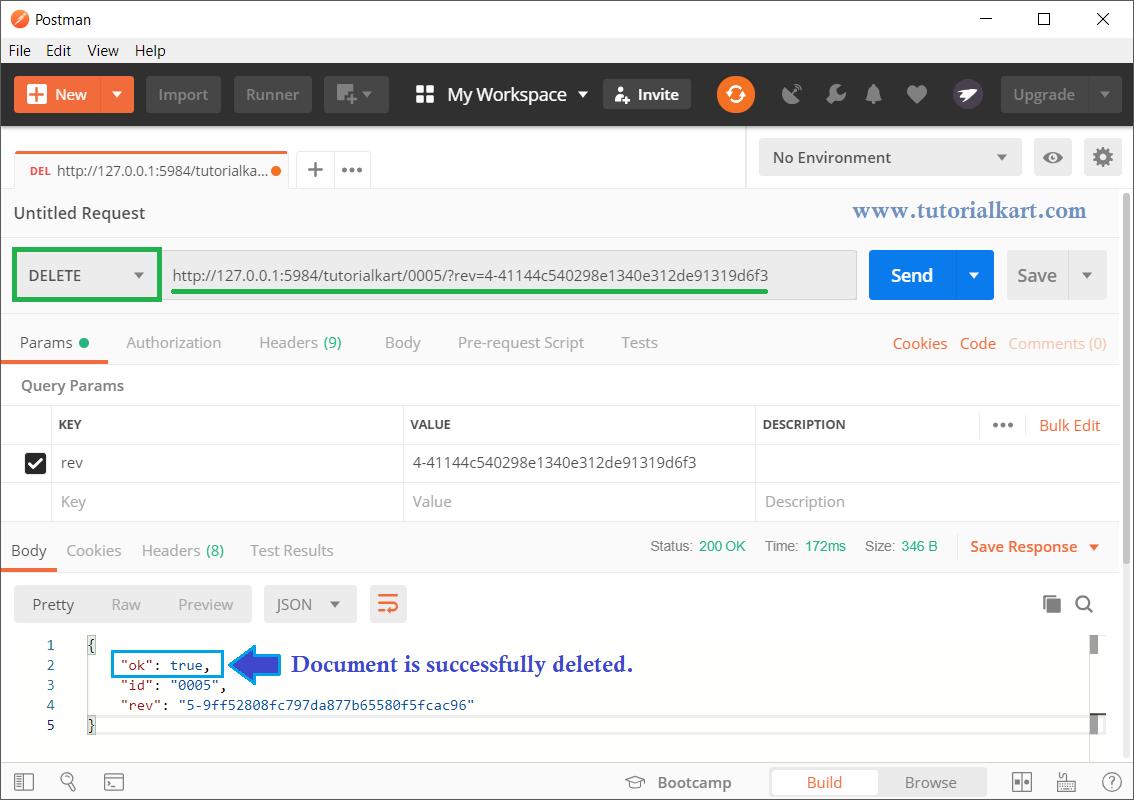CouchDB - Delete Document - REST API