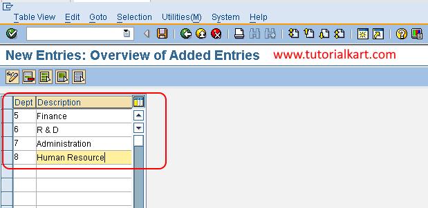 Define Departments in SAP