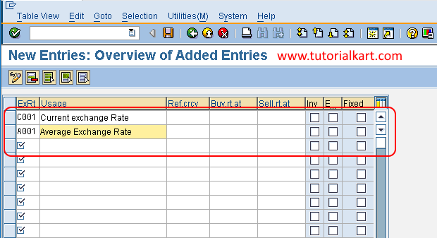 Define and check rate types in SAP FSCM