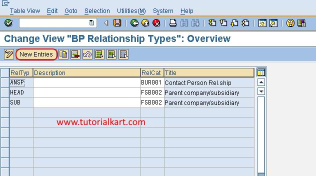 New entries BP relationship types in SAP FSCM