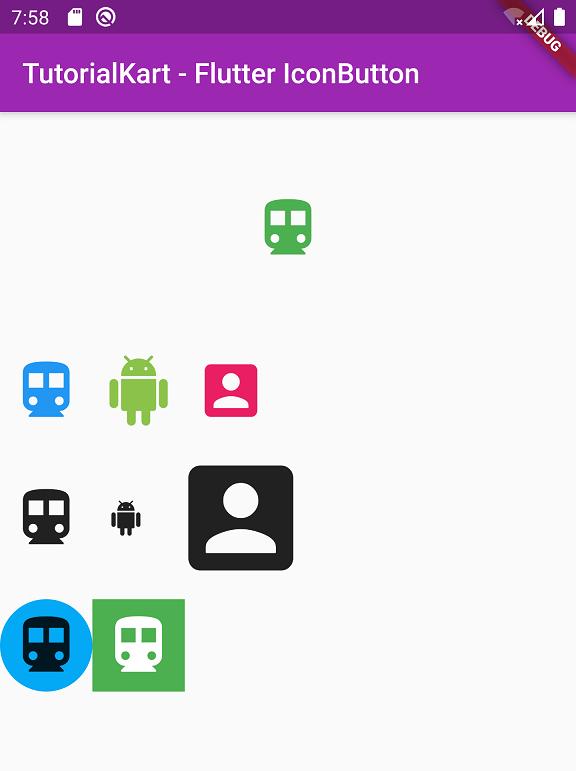 Flutter Icon Button Tutorial