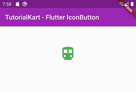 Flutter IconButton Tutorial