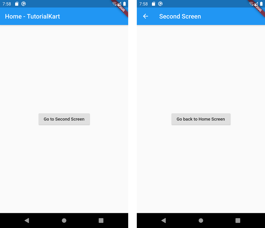 Flutter Navigation from One screen to Another