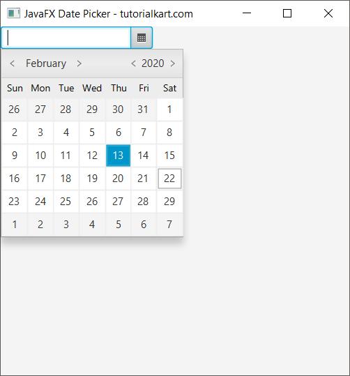JavaFX DatePicker
