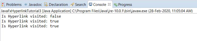 JavaFX Hyperlink - isVisited