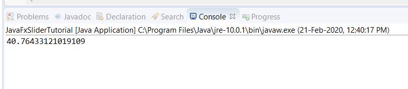 JavaFX Slider - Get Value on Change - Print in Console
