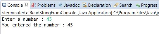 Java Program - Read Integer from Console via Standard Input (Keyboard)