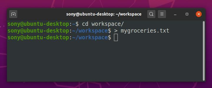 Step 4 - Linux Create File